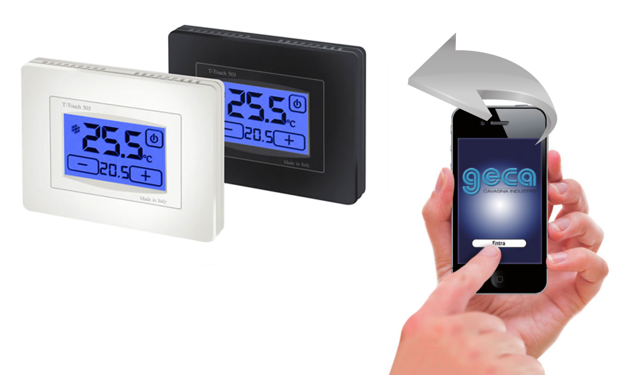 Gecapp termostati gsm for Termostato touchscreen gsm vimar 02906