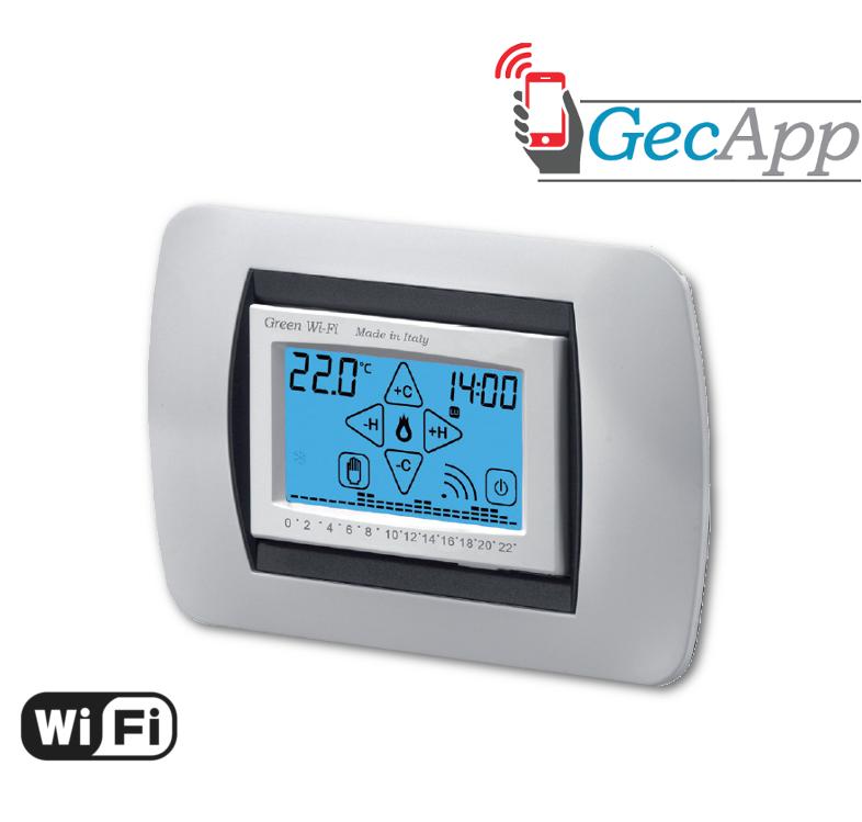Cpf tecnocontrol geca sito ufficiale for Geca unico termostato istruzioni
