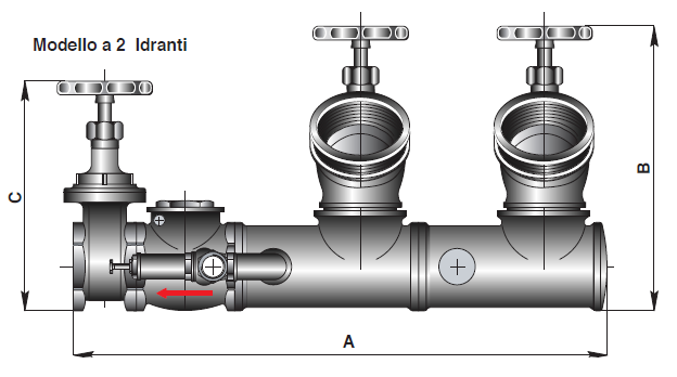 Simple discharge outlet flanged fire hydrant connection for brigade