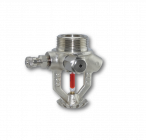 CONVENTIONAL type Sprinkler Heads with spherical distribution, for automatic fire extinguishers. Type with pressurized gas charging valve, and gauge boss tapped with safety valve.
