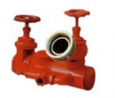Threaded discharge outlet fire hydrant connection for fire bridage truck pump UNI10779
