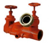 Threaded linear fire hydrant connection for fire brigate truck pump