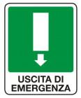 Segnaletica con dicitura: Uscita di emergenza (b)