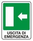 Segnaletica con dicitura: Uscita di emergenza (d)