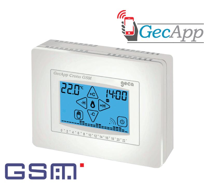 Gecapp cronotermostati gsm for Geca unico termostato istruzioni