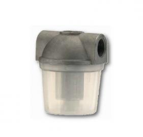 Filtri gasolio con vaschetta plastica opaca bassa capacità