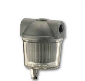 Filtri gasolio con vaschetta plastica trasparente con valvola di spurgo
