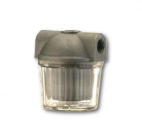 Filtri gasolio con vaschetta plastica trasparente bassa capacità