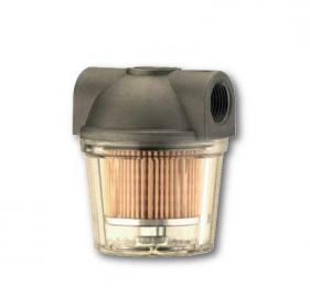 Filtri gasolio con vaschetta plastica trasparente