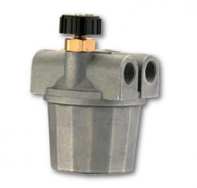 Filtri gasolio a 2 Vie con vaschetta in alluminio, valvola di ritegno e rubinetto