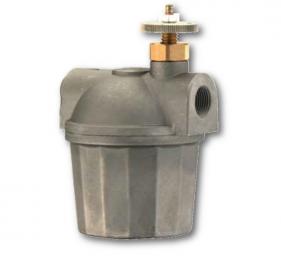 Filtri gasolio con vaschetta alluminio e rubinetto con sicurezza