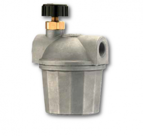 Diesel filters with aluminium bowl and valve