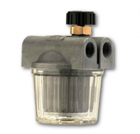 Filtri gasolio a 2 vie con vaschetta in plastica, valvola di ritegno e rubinetto