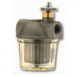 Filtri gasolio con vaschetta in plastica e rubinetto con sicurezza