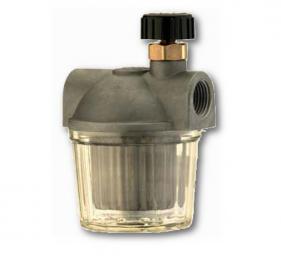 Filtri gasolio con vaschetta in plastica e rubinetto