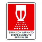 Segnaletica con dicitura: Zona impianto spegnimento Sprinkler