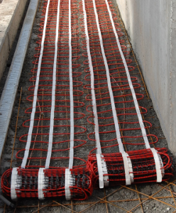 Cable for freezing protection of slope