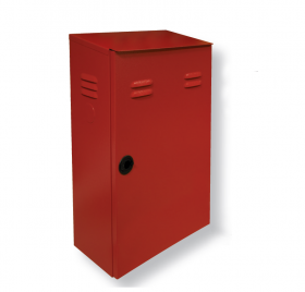 Outdoor fire cabinet without slab