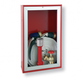 Indoor fire cabinets red