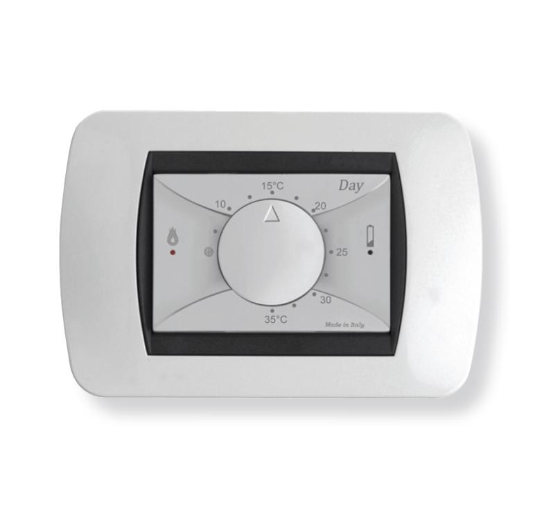 Day termostato ambiente da incasso for Geca unico termostato istruzioni