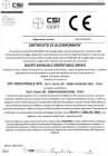 Certificato Regolamento 305/2011/UE (CPR) Naspo Manuale Orientabile Brixia
