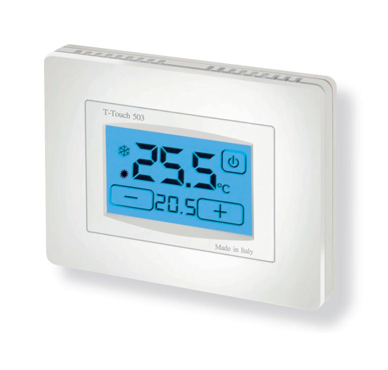 T touch 503 termostato touch screen da parete for Geca unico termostato istruzioni