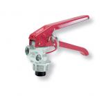 Squeeze-grip valve for store pressure fire extinguishers 6-12 kg alluminium forged.