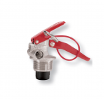 Squeeze-grip valve for stored pressure fire extinguishers 1-2 Kg.