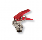 Squeeze-grip valve for stored pressure fire extinguishers 2-4 Kg.